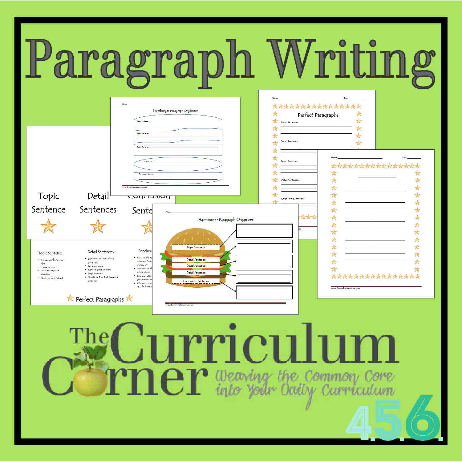 Paragraph Writing - The Curriculum Corner 4-5-6 | Free Printable Paragraph Writing Worksheets