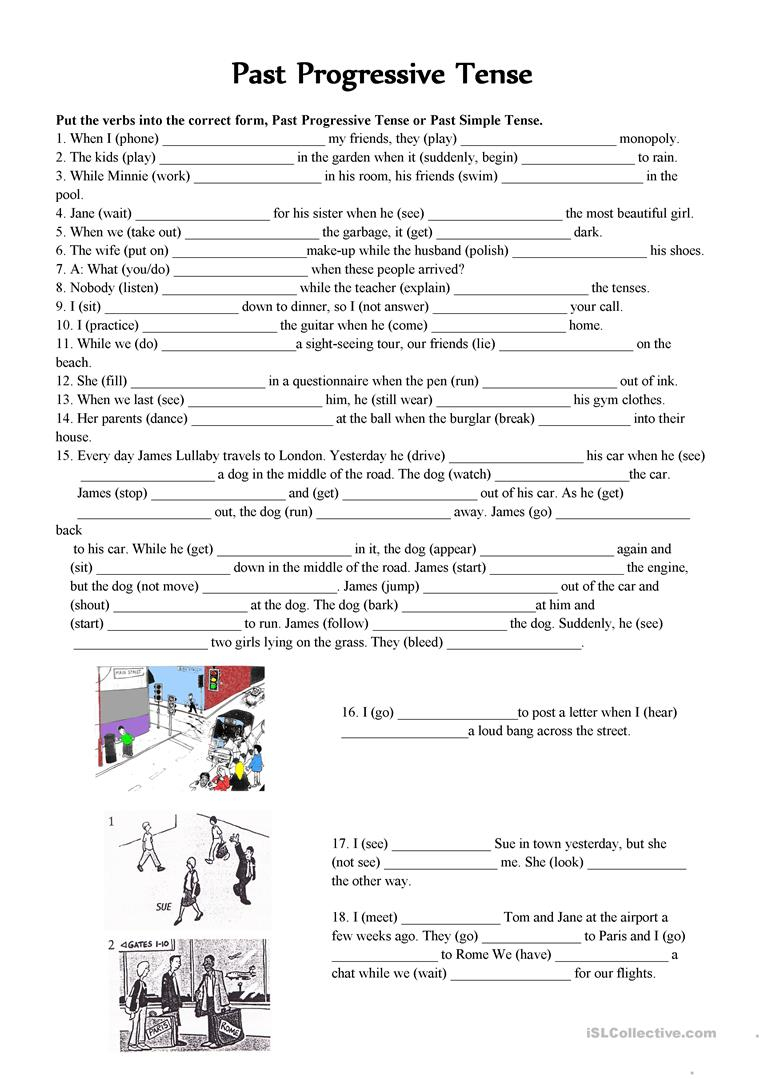 Past Continuous Vs. Past Simple Tense Worksheet - Free Esl Printable | Past Progressive Tense Worksheets Printable