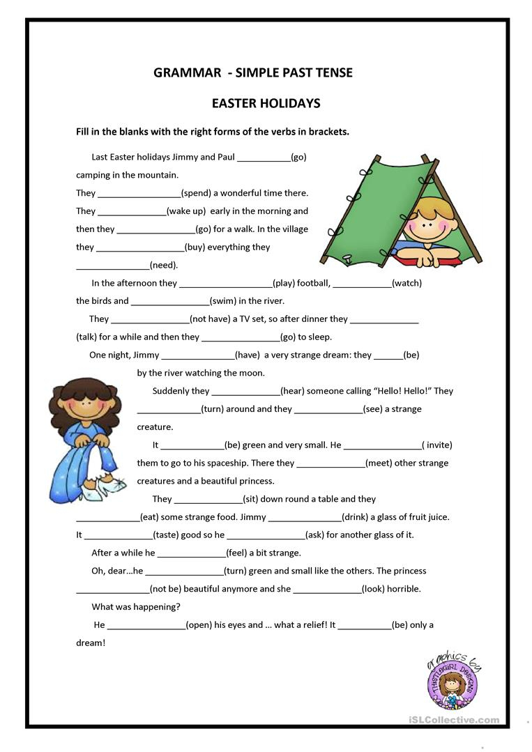 Past Simple Worksheet - Free Esl Printable Worksheets Madeteachers | Past Simple Printable Worksheets