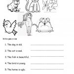Pets And Adjectives Worksheet   Free Esl Printable Worksheets Made | Pets Worksheets Printables