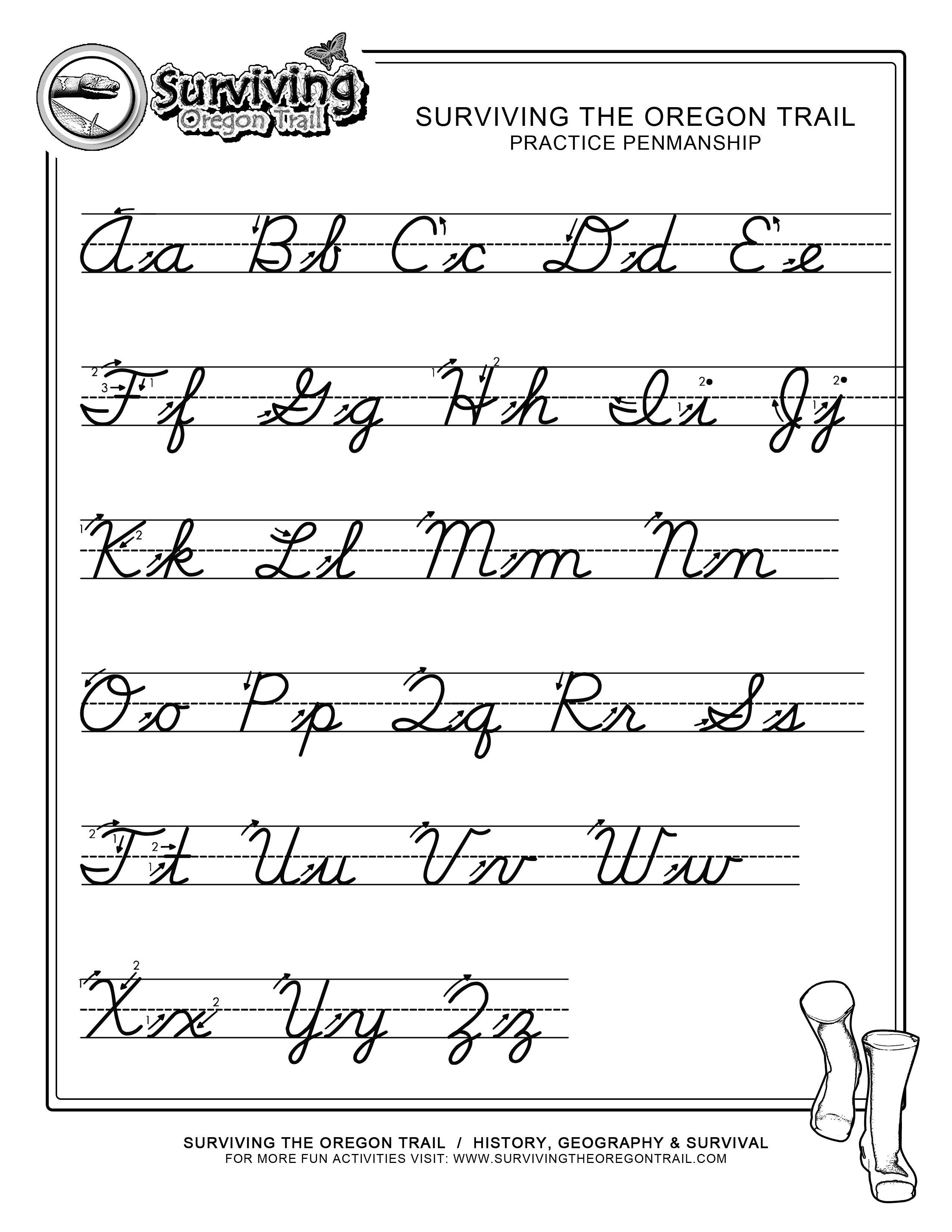 Pinjessica From Honeysuckle & Vine On Homeschool | Cursive | Printable Cursive Writing Worksheets