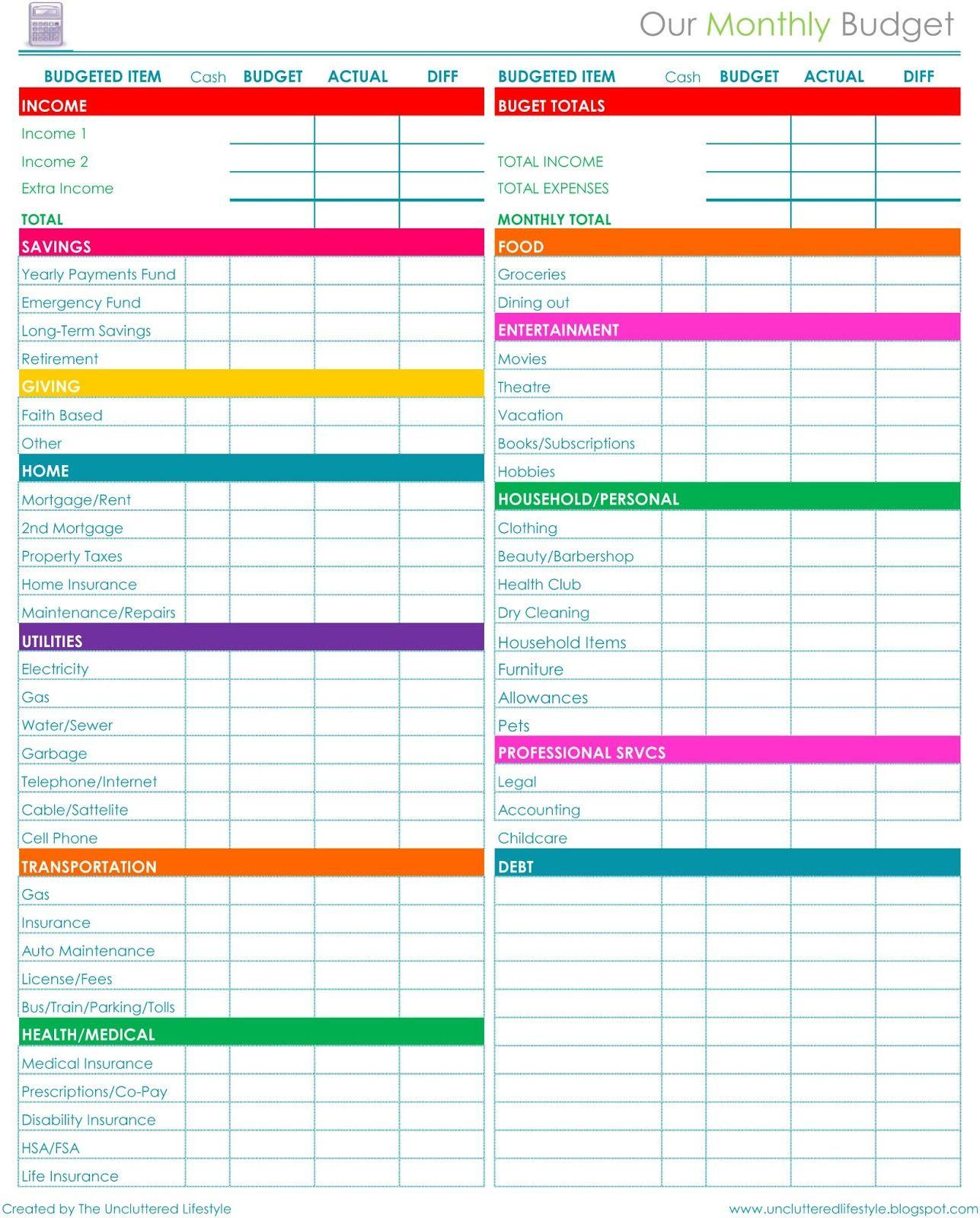 Pinprintables Kathy Loves <3 On Binders~Home Organization | Free Printable Home Organization Worksheets