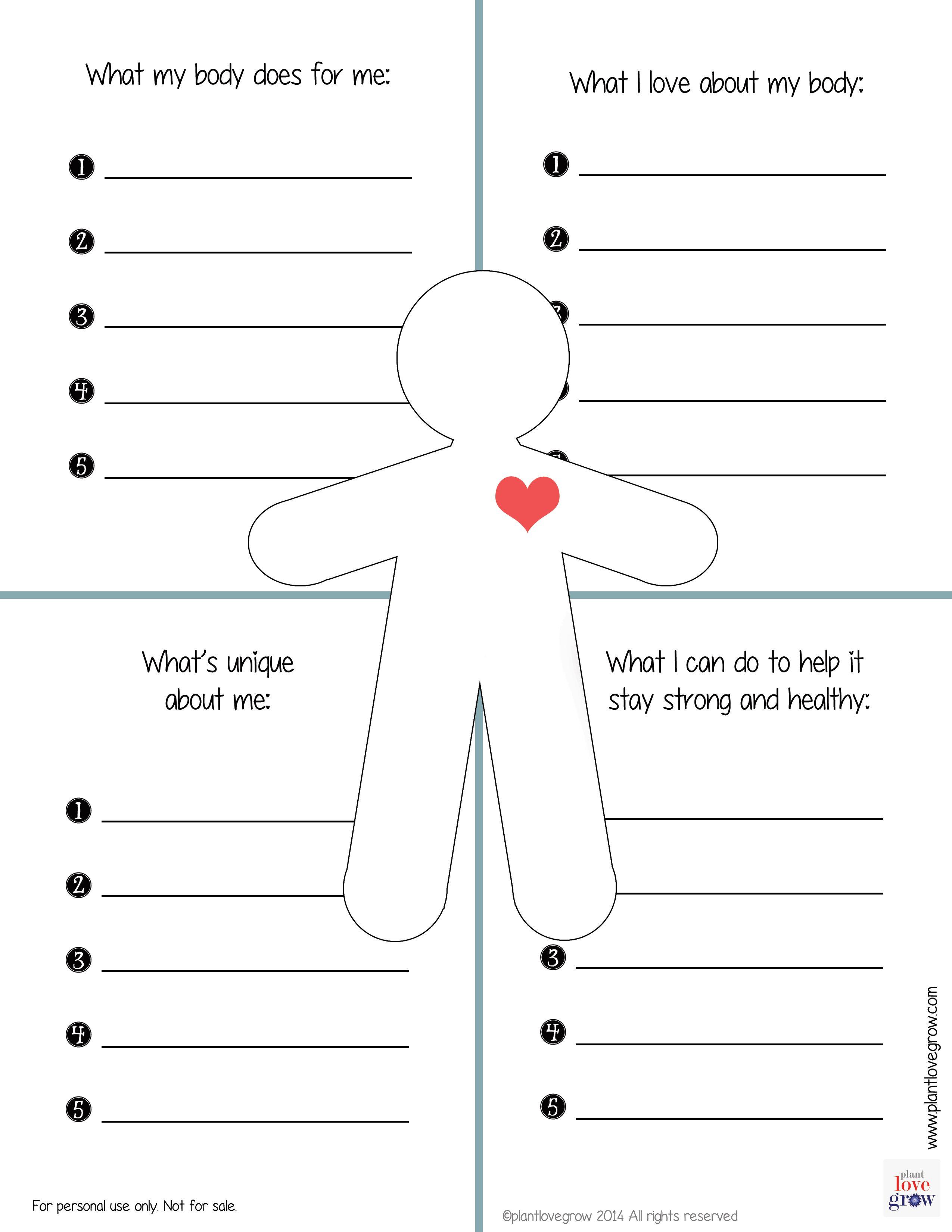 Pinrachel Martin Huff On Self Esteem | Self Esteem Worksheets | Self Esteem Worksheets For Kids Free Printable