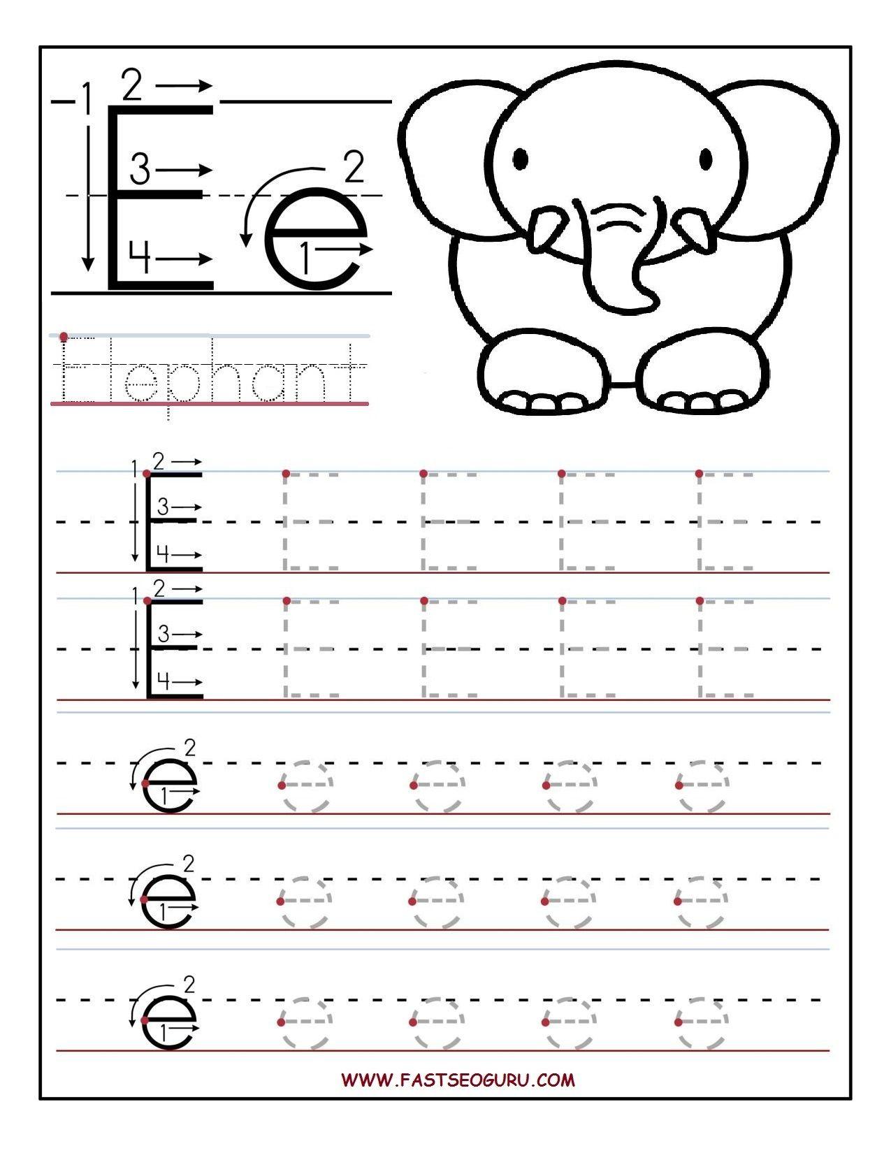 Pinvilfran Gason On Decor | Letter E Worksheets, Letter Tracing | Letter E Printable Worksheets