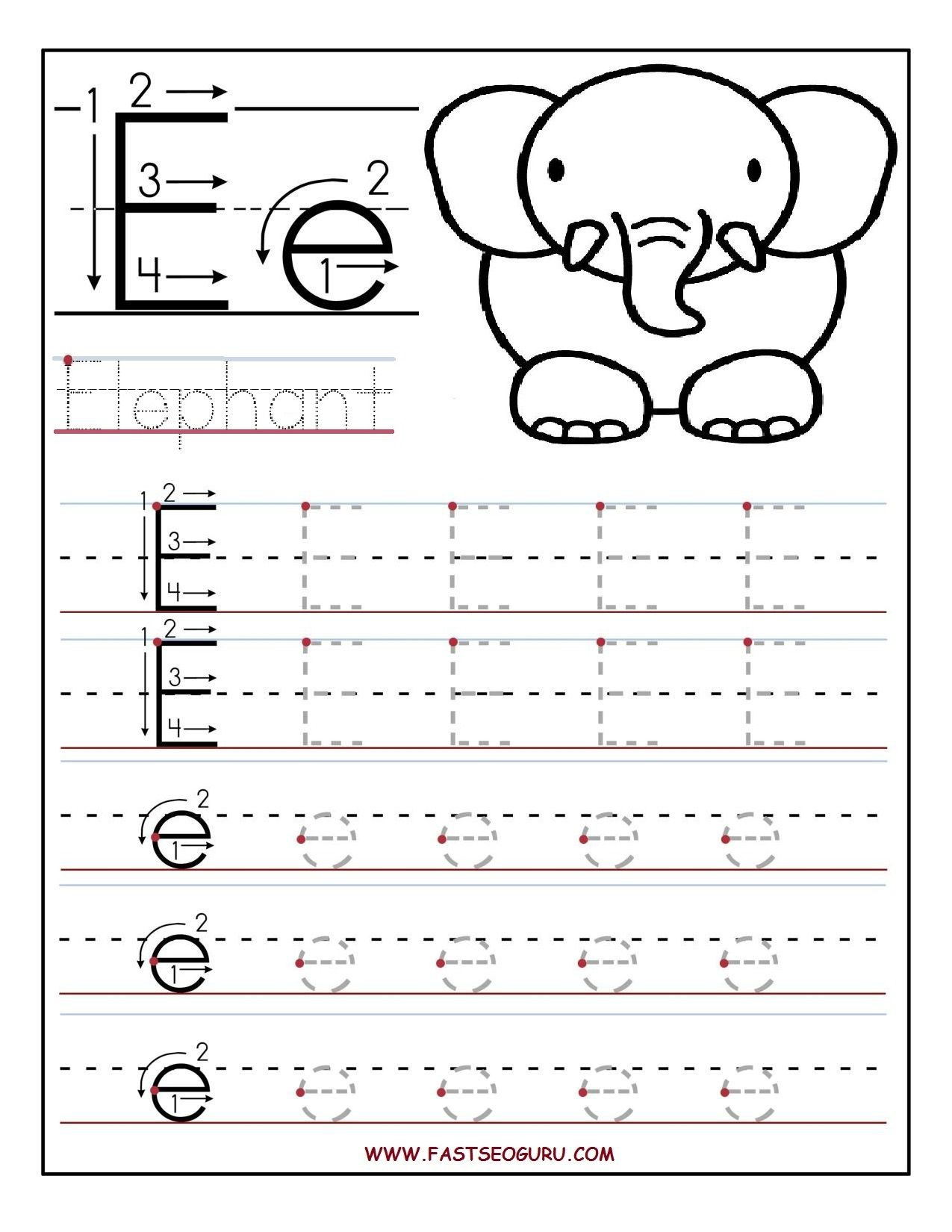 Pinvilfran Gason On Decor | Letter E Worksheets, Letter Tracing | Printable Letter E Worksheets For Preschool