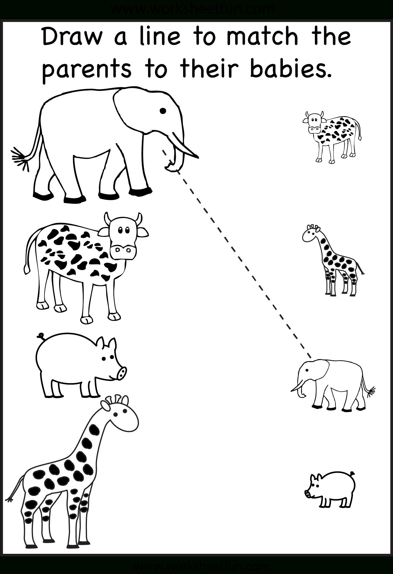 Pinzhenya Ilushevitch On Animals | Preschool Worksheets | Printable Worksheets For 3 Year Olds