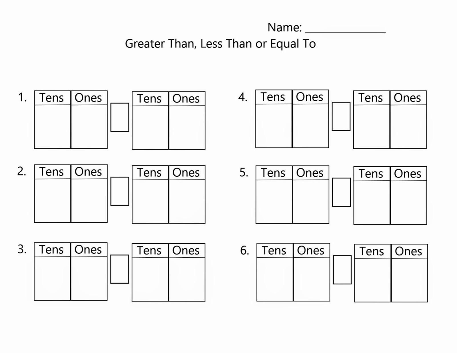 Place Value Worksheets First Grade Inspirational Place Value | Free Printable Tens And Ones Worksheets For First Grade