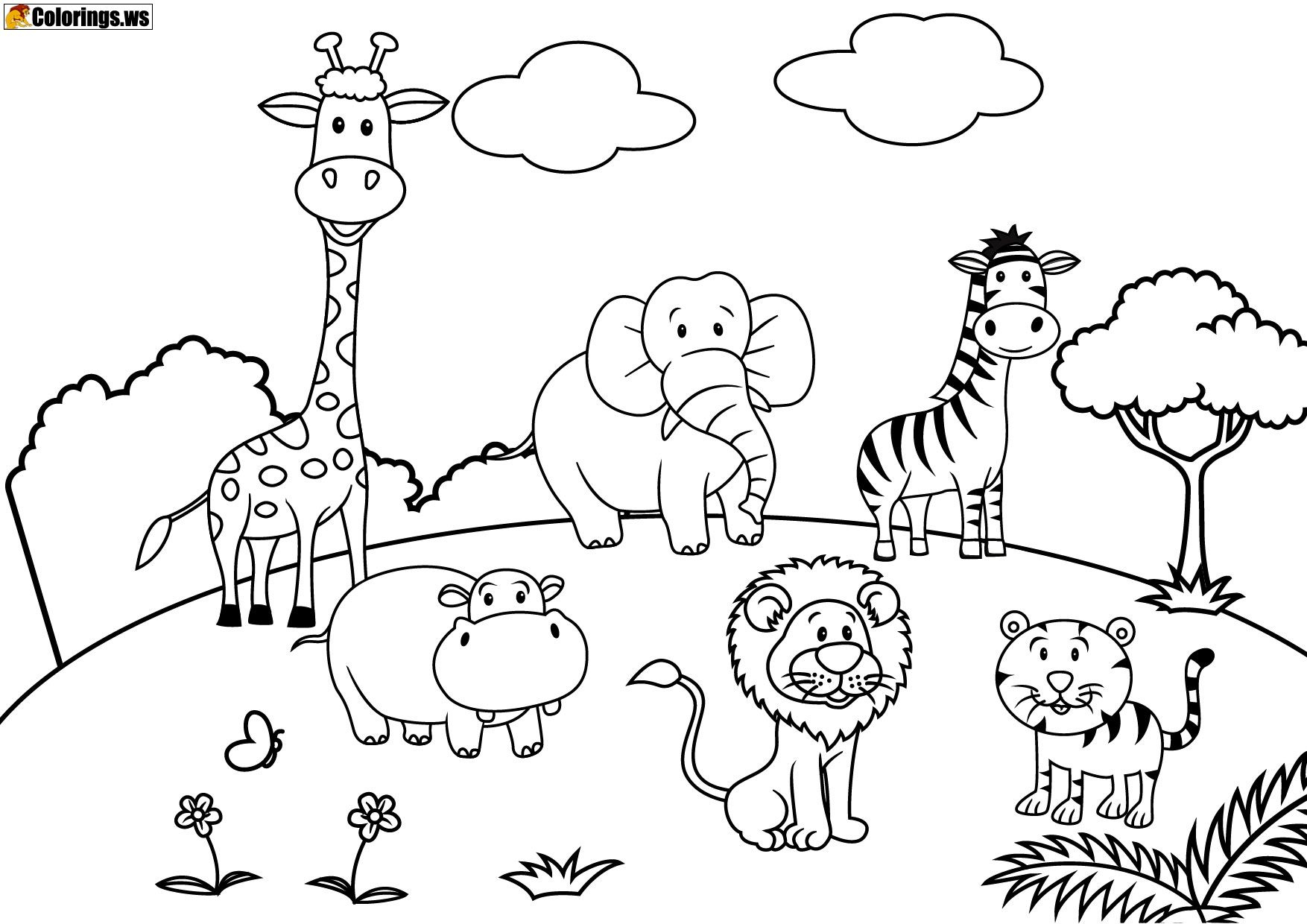 Playground 10 | Playground Coloring Pages | Free Printable | Free Printable Playground Coloring Worksheets