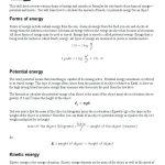 Potential Vs Kinetic Energy Worksheet Worksheets   Classy World | Free Printable Worksheets On Potential And Kinetic Energy