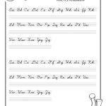 Practice Penmanship – Free Abc's Printable Cursive Writing Worksheet | Free Printable Writing Worksheets