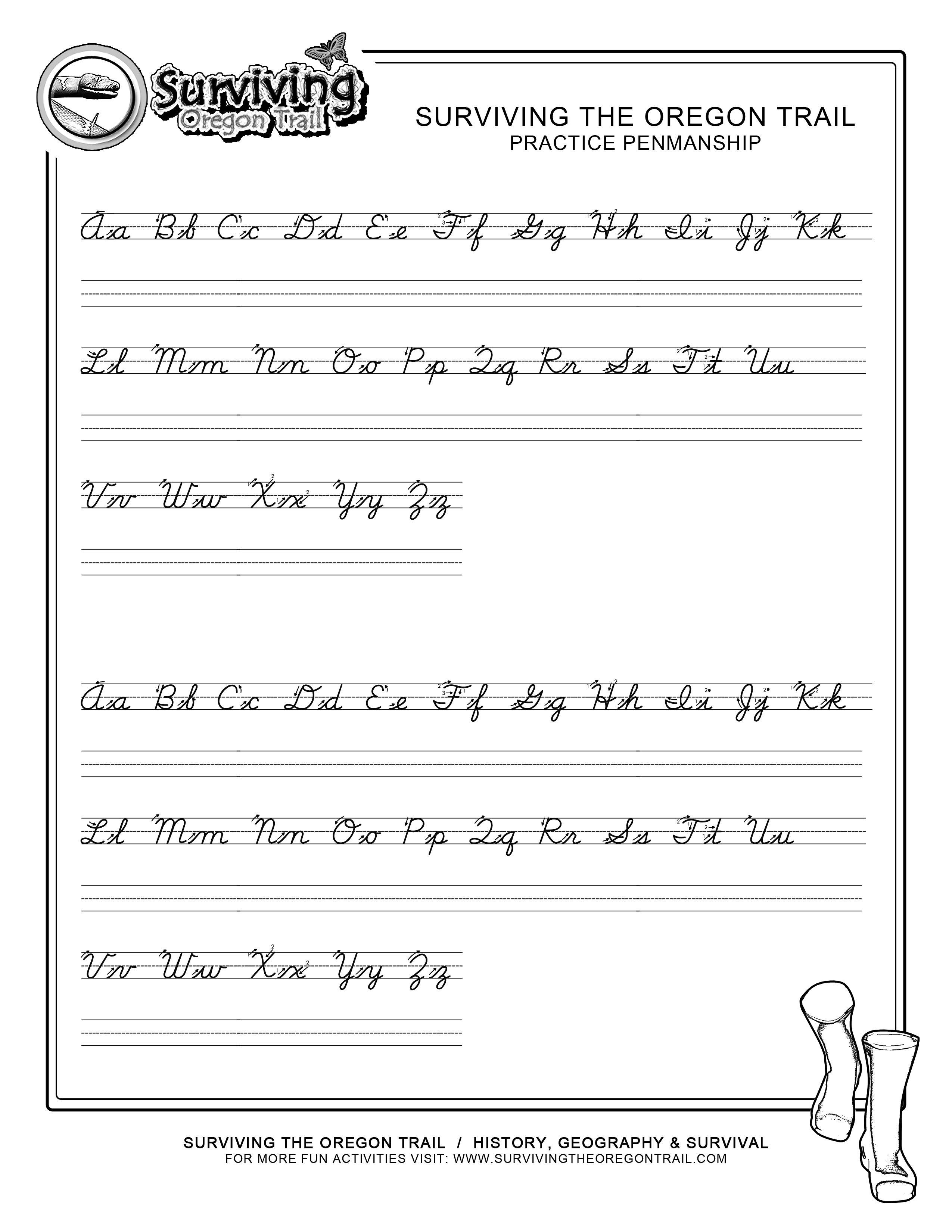 Practice Penmanship – Free Abc's Printable Cursive Writing Worksheet | Printable Cursive Handwriting Worksheets Alphabet