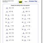 Pre Algebra | Free Printable Algebra Worksheets Grade 6