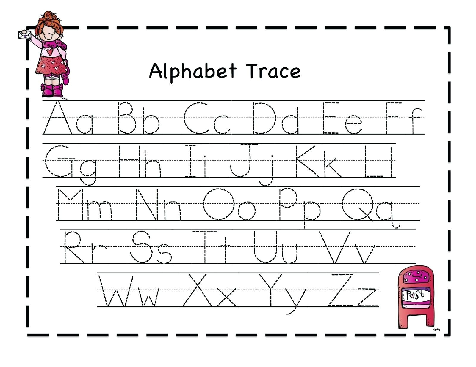 Pre K Letter Tracing Worksheets A With Pre Kindergarten Alphabet | Free Printable Alphabet Tracing Worksheets