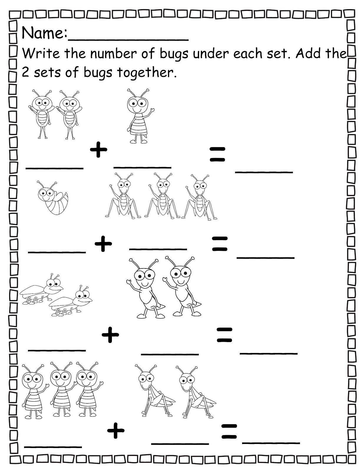 Pre K Worksheets Numbers Addition | Worksheets | Pre K Worksheets | Free Printable Pre K Math Worksheets