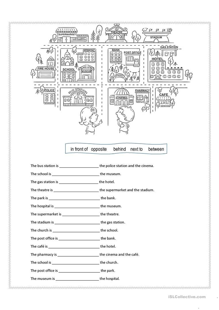Prepositions Of Place Worksheet - Free Esl Printable Worksheets Made | Free Printable Esl Worksheets