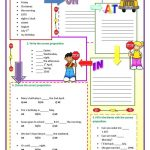 Prepositions Of Time Worksheet   Free Esl Printable Worksheets Made | Free Printable Worksheets For Prepositions