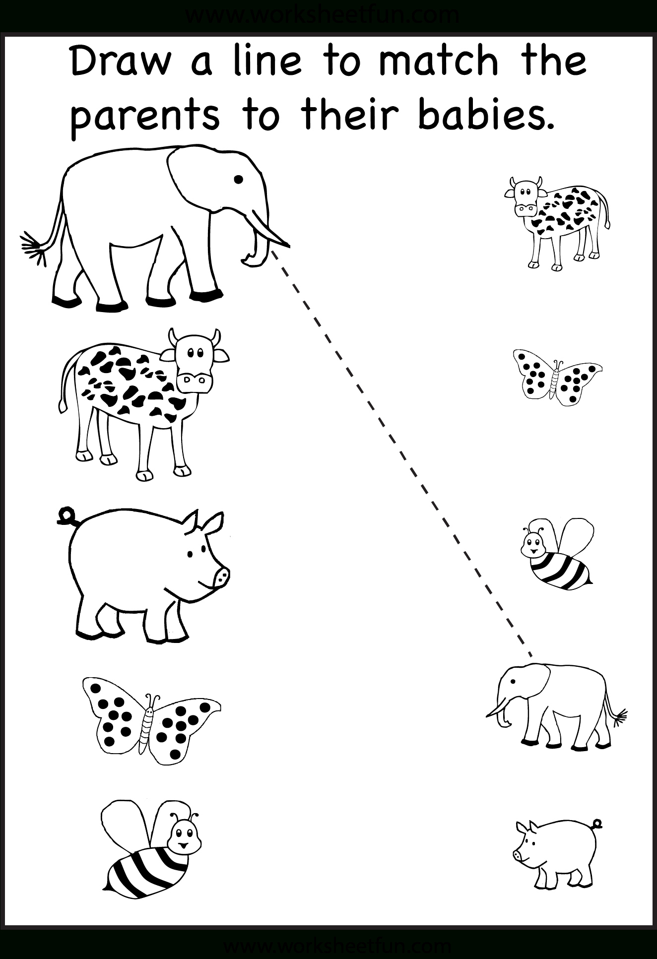 Preschool Matching Worksheet | Matching | Kindergarten Worksheets | Printable Matching Worksheets For Preschoolers