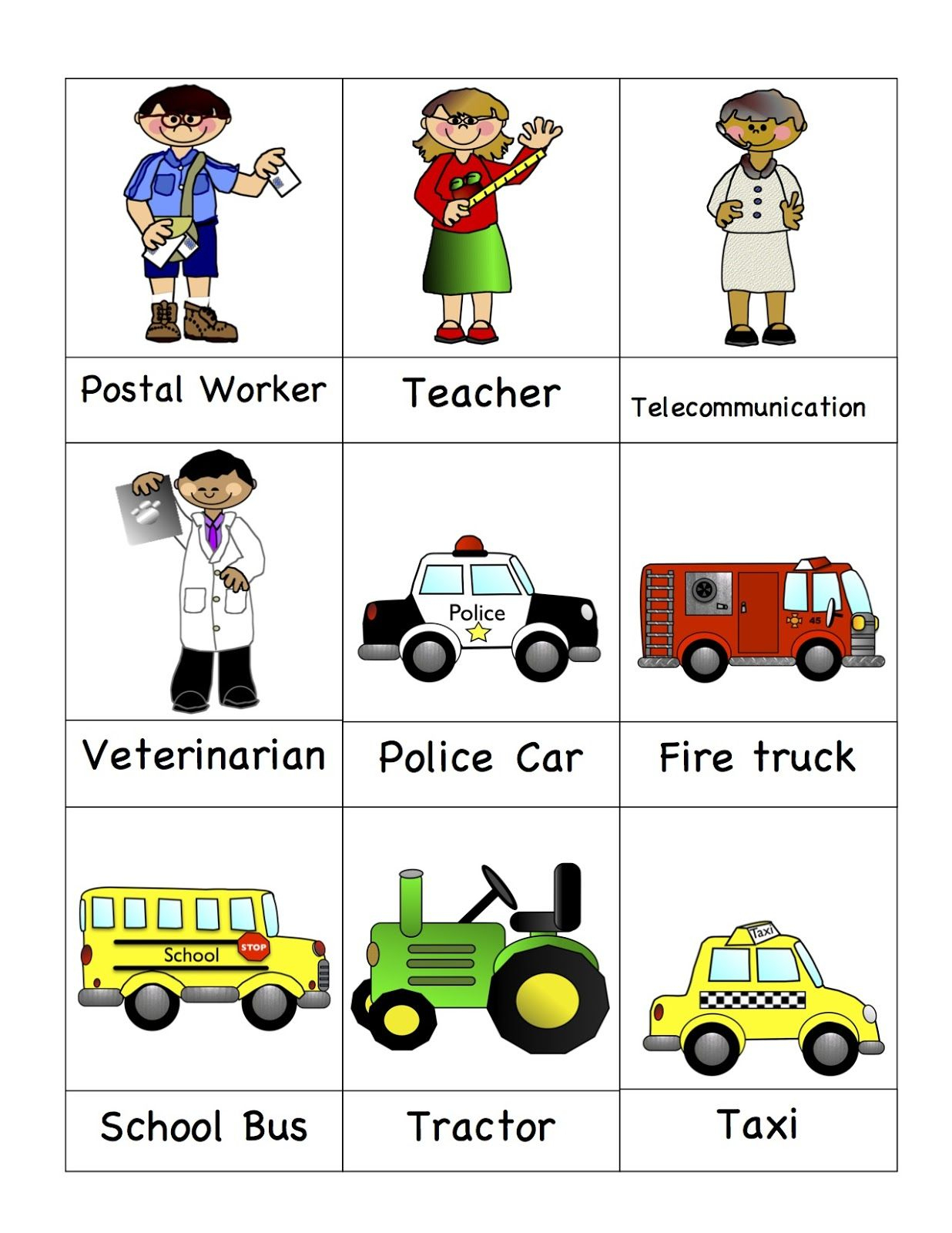 Preschool Printables: Community Helpers - So Many Free Printables On | Free Printable Community Helpers Worksheets For Kindergarten
