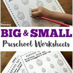 Preschool Worksheets: Big And Small Worksheets For Preschool | Big And Small Ideas Printable Worksheets