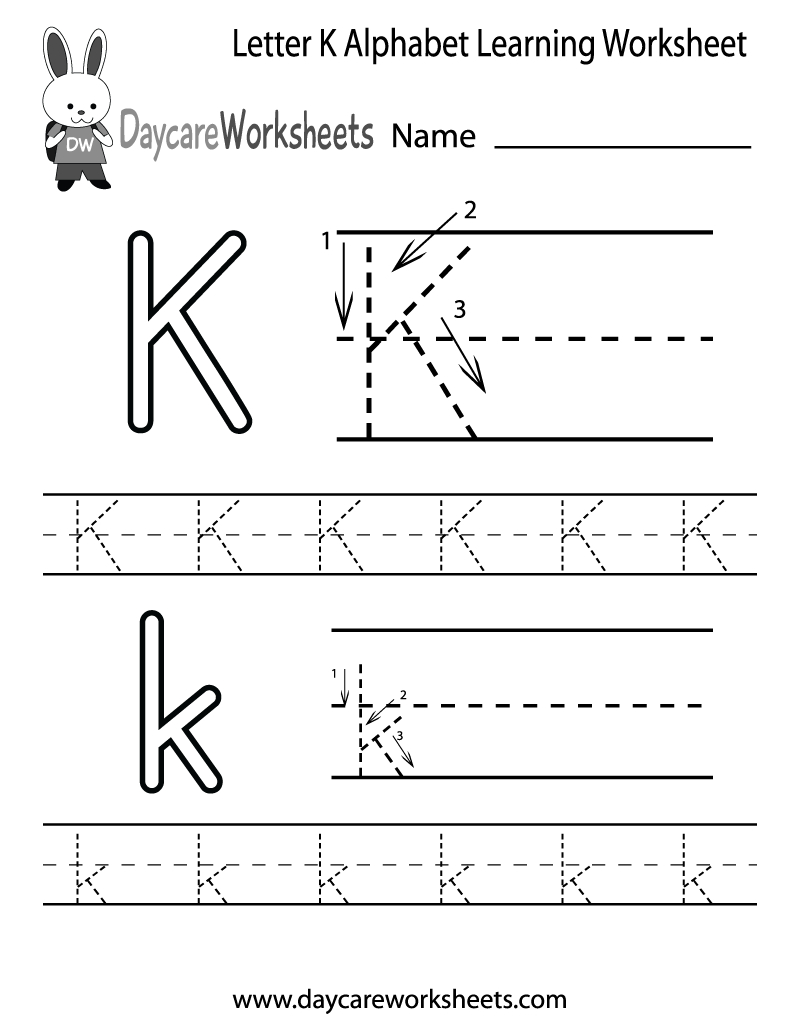 Preschoolers Can Color In The Letter K And Then Trace It Following | Letter K Worksheets Printable