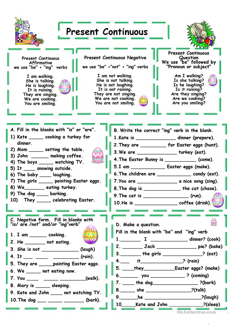 Present Continuous Worksheet - Free Esl Printable Worksheets Made | Present Progressive Worksheets Printable