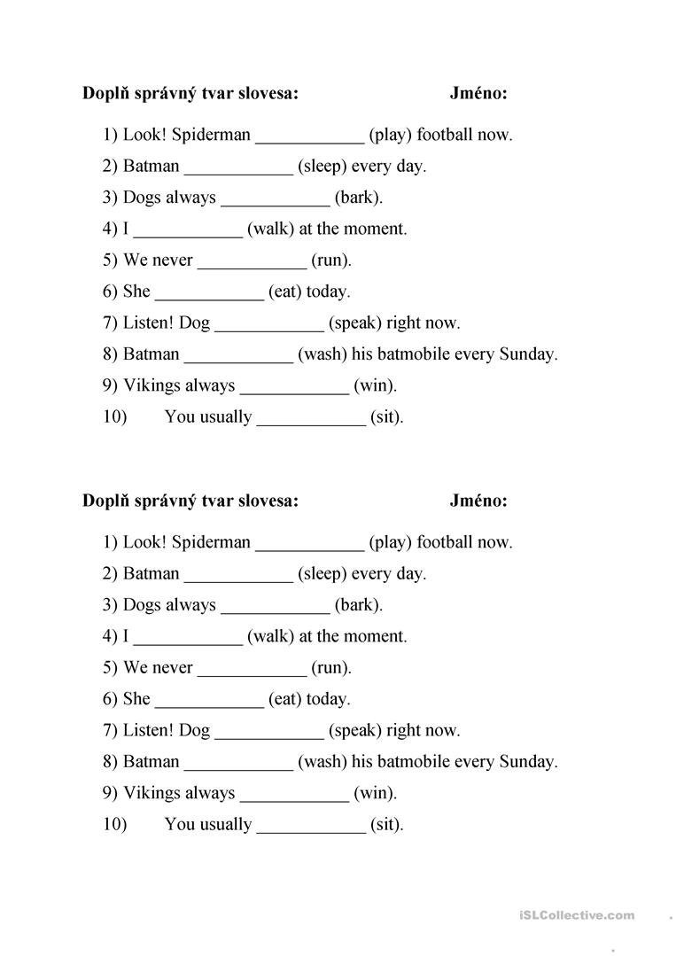 Present Simple Vs Present Continuous Worksheet - Free Esl Printable | Viking Worksheets Printable