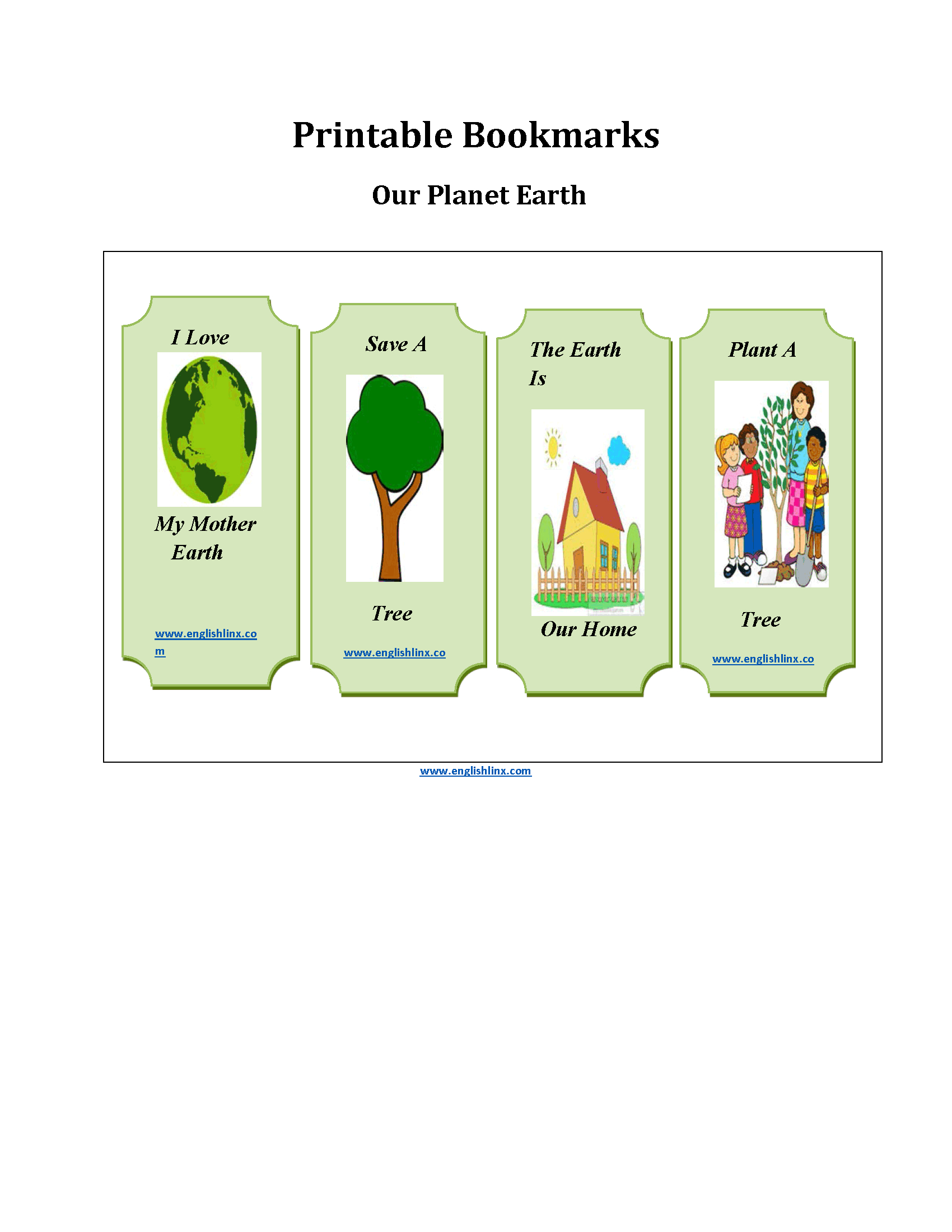 Printable Bookmarks Worksheets | Planet Earth Printable Bookmarks | Earth Printable Worksheets