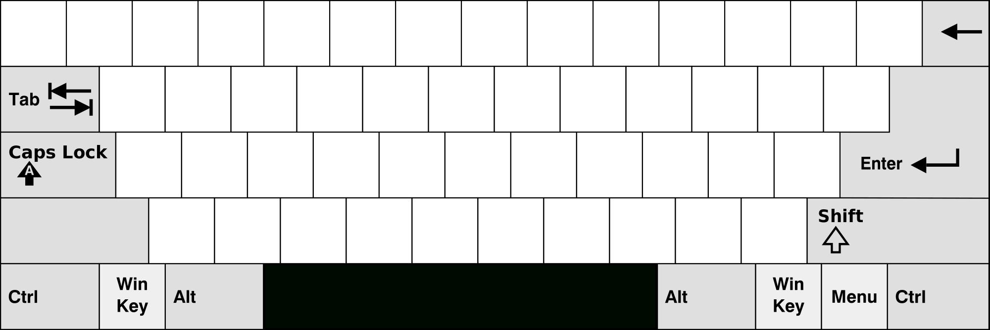 Printable Computer Keyboard Template. Keyboard Template Printable | Blank Keyboard Worksheet Printable