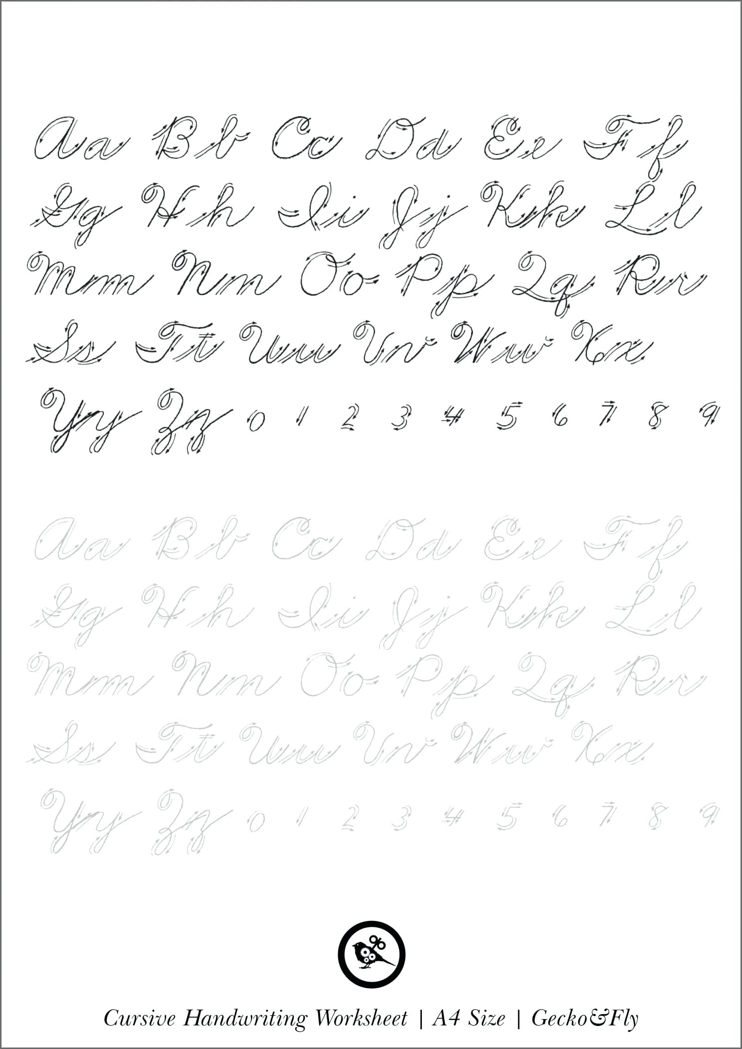 Printable Cursive Handwriting Cursive Click Here To Download Your | Printable Cursive Handwriting Worksheet Generator