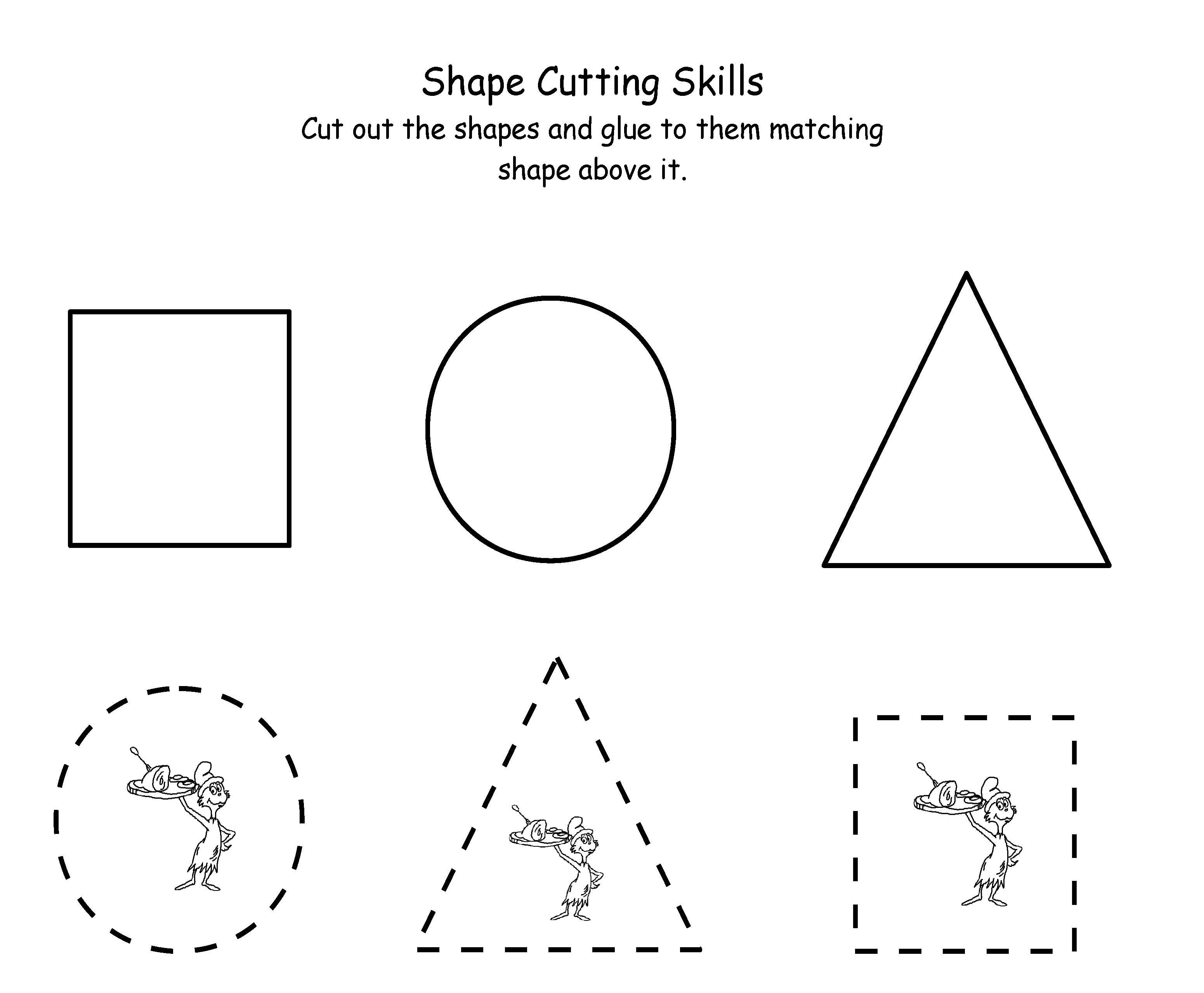 Printable Dr. Seuss Cutting | Maths | Dr Seuss Activities, Dr Seuss | Printable Cutting Worksheets For Preschoolers