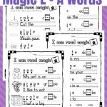 Printable Magic E   Long A Worksheets   Only Passionate Curiosity   Magic E Worksheets Free Printable