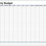 Printable Monthly Budget Worksheet Excel   Koran.sticken.co | Blank Budget Worksheet Printable