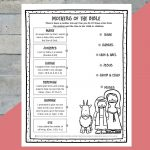 Printable Mothers Of The Bible Worksheet   Path Through The Narrow Gate | Printable Worksheets Miracles Jesus