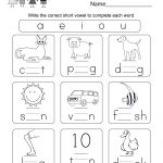 Printable Phonics Worksheet   Free Kindergarten English Worksheet | Digraphs Worksheets Free Printables