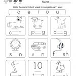 Printable Phonics Worksheet   Free Kindergarten English Worksheet | Printable English Worksheets