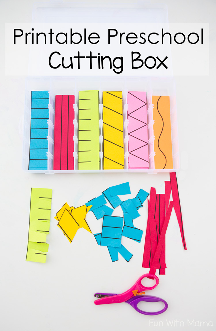 Printable Preschool Cutting Busy Box - Fun With Mama - Free | Free Printable Fine Motor Skills Worksheets
