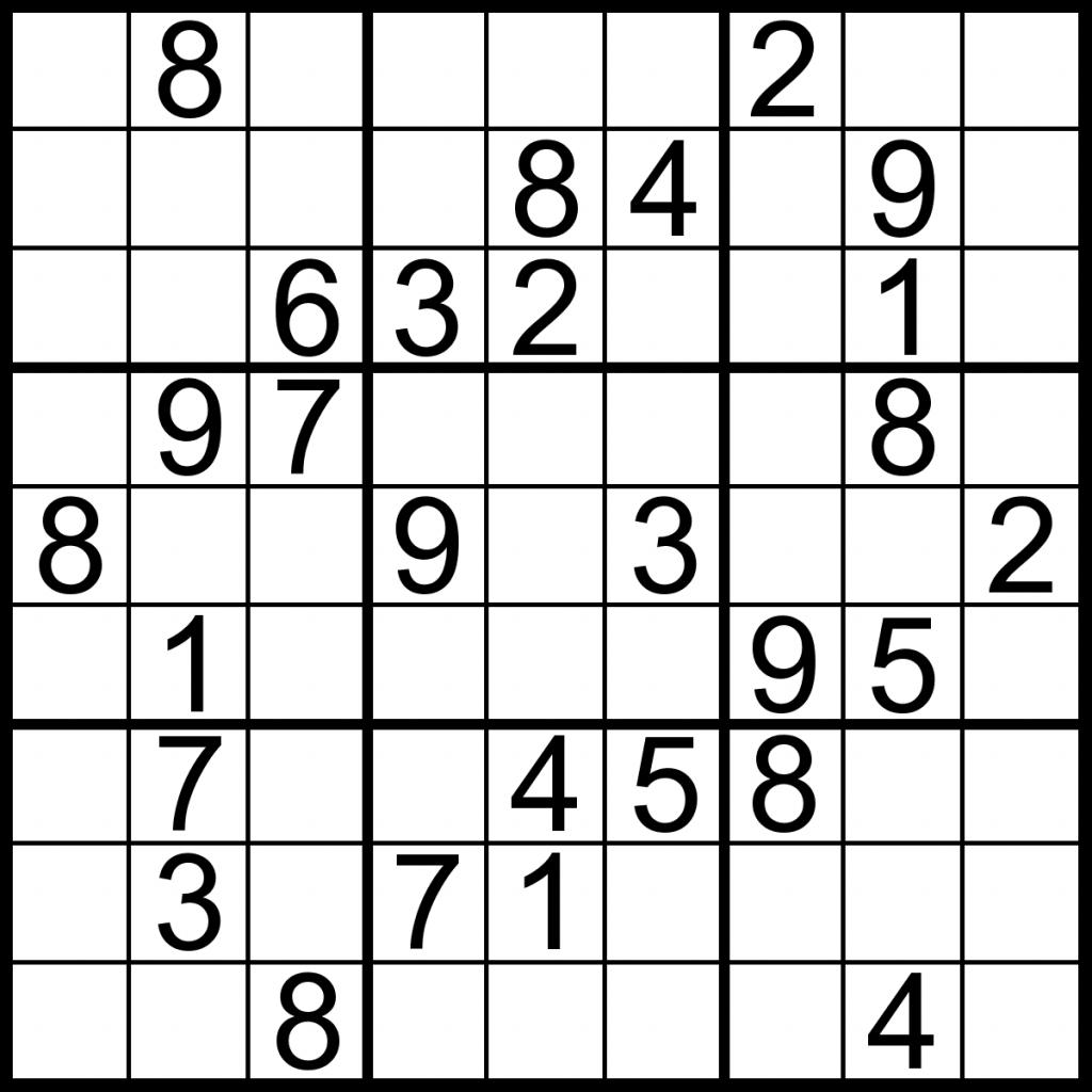 Printable Sudoku Puzzles Medium | Printable Sudoku Free | Printable Sudoku Worksheets