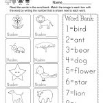 Printable Vocabulary Worksheet   Free Kindergarten English Worksheet | Free Printable Language Worksheets