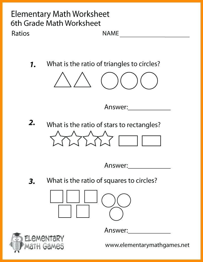Printable Worksheets For 6Th Graders Grade Math Ratios Worksheets | Free Printable Multiplication Worksheets For 6Th Grade