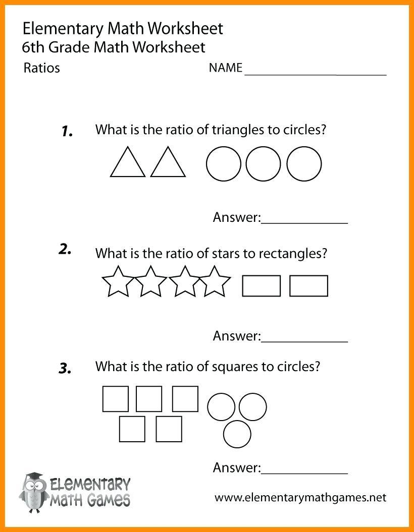 Printable Worksheets For 6Th Graders Grade Math Ratios Worksheets | Free Printable Worksheets For 6Th Grade