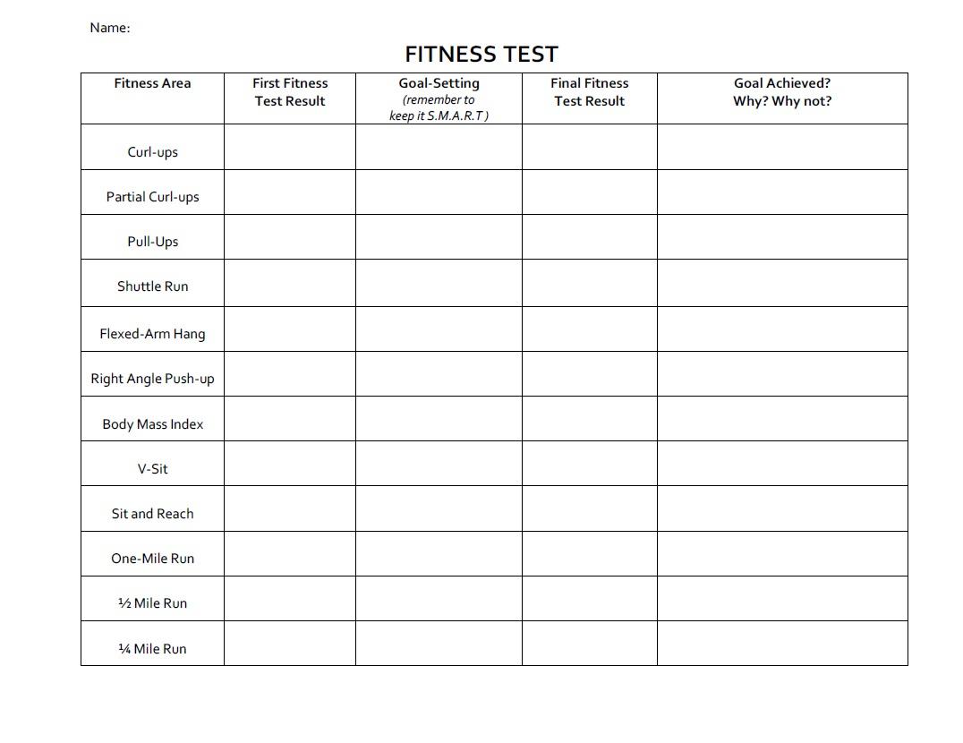 Printables. Fitness Goals Worksheet. Lemonlilyfestival Worksheets   Free Printable Fitness Worksheets