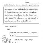 Reading Comprehension Practice Worksheet | Education | Free Reading | Free Printable Reading Comprehension Worksheets For Adults