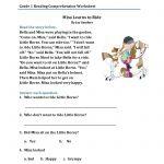 Reading Comprehension Worksheets For 1St Grade   Cramerforcongress | Free Printable Grade 1 Reading Comprehension Worksheets