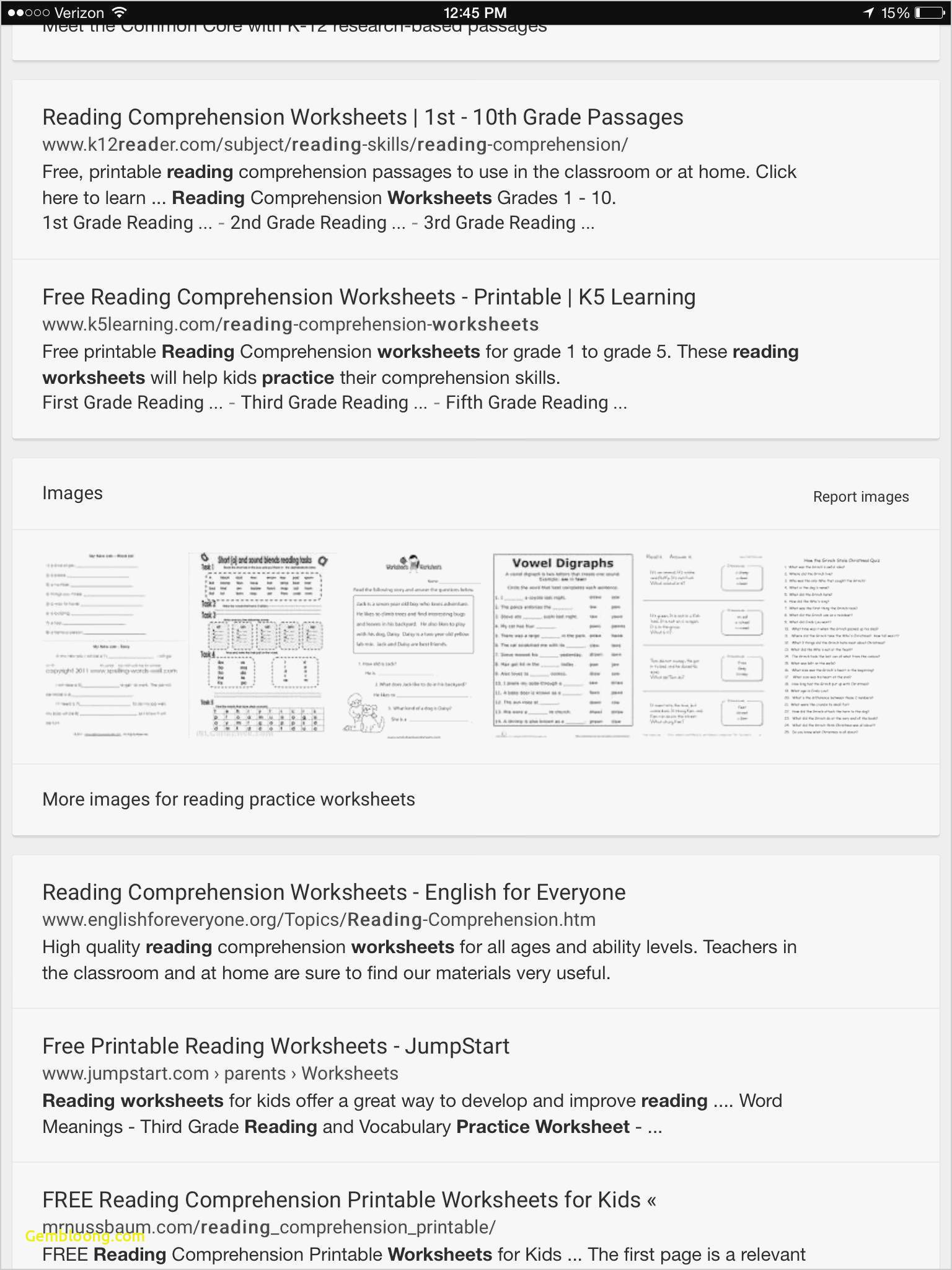 Reading Comprehension Worksheets For 1St Grade - Cramerforcongress | Third Grade Reading Worksheets Free Printable