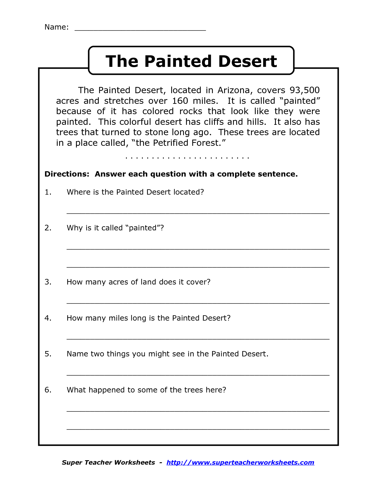 Reading Worksheets For 4Th Grade | Reading Comprehension Worksheets | Printable Comprehension Worksheets For Grade 3