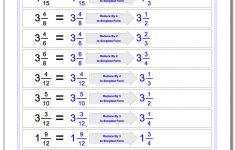 Reducing Fractions | Free Printable Simplifying Fractions Worksheets