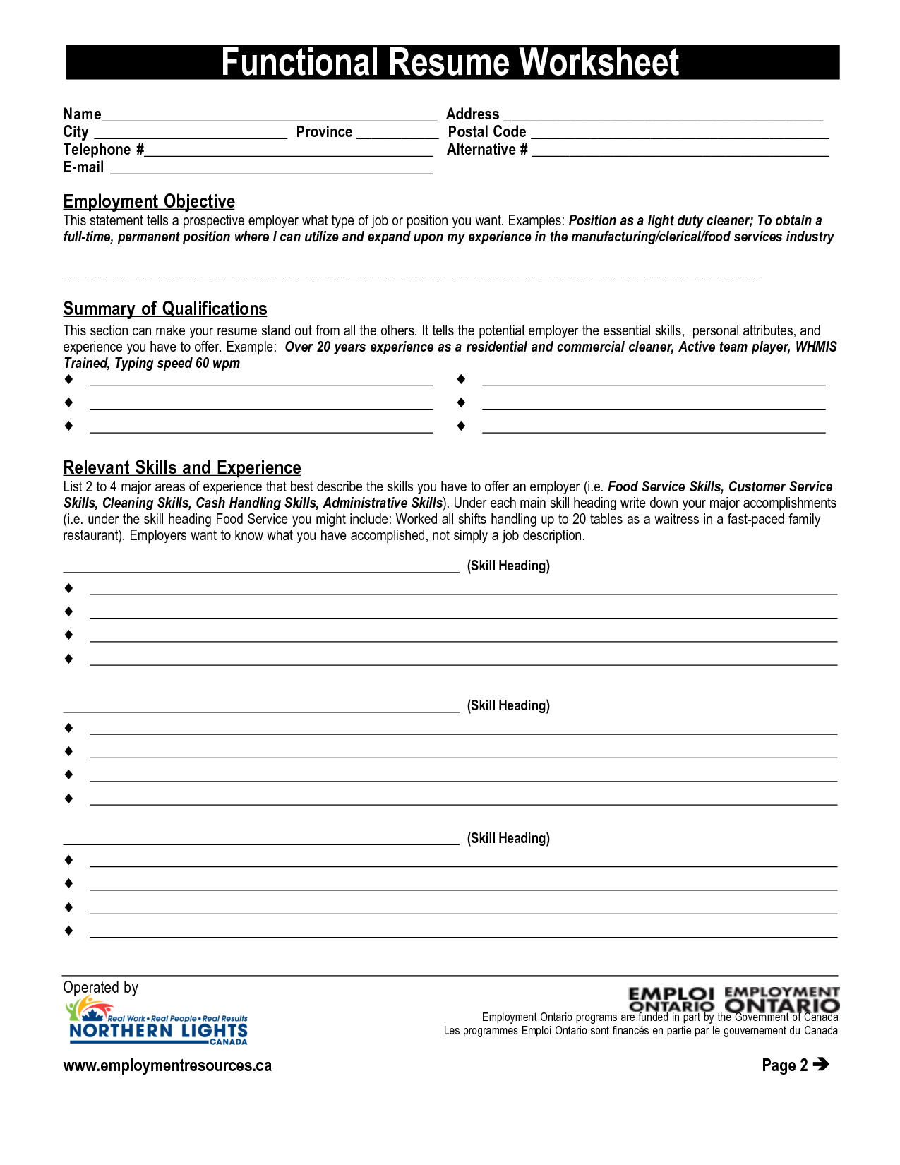 Resume Worksheet Printable And High School Template Building | Printable Resume Builder Worksheet