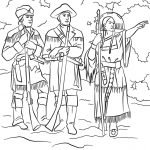 Sacagawea With Lewis And Clark Coloring Page | Free Printable | Lewis And Clark Printable Worksheets