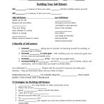 Self Esteem Worksheet   Google Search | Self Esteem/confidence | Printable Self Esteem Worksheets For Teenagers