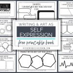 Self Expression Through Writing & Art  Free Self Esteem Worksheets   Self Esteem Printable Worksheets For Kids